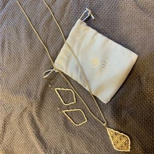 Kendra Scott Gold Earring and Necklace